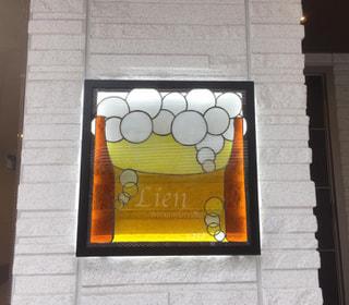 新築マンションの館銘板をステンドグラスで制作いたしました。