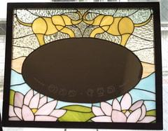 荒木裕子さんのステンドグラスのウェルカムボード