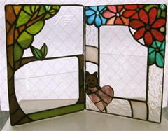兼松富美子さんのステンドグラス作品
