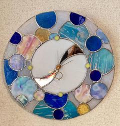 鈴木絵美子さん作 ステンドグラス壁掛け時計