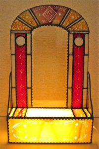 今井由佳さんのステンドグラスのウエルカムボード