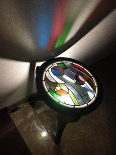 石田瑞枝さん 作  ステンドグラス ライトアップテーブル