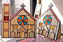 目黒区 碑文谷 サレジオ教会をイメージしたステンドグラス