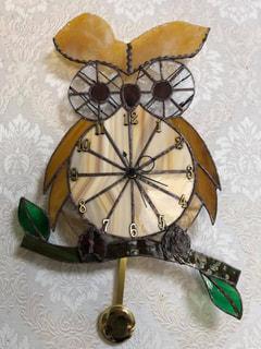 村木智嘉子さん作 ステンドグラス壁掛け時計