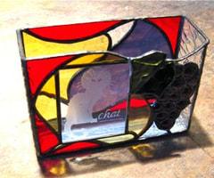 栗田知子さんのステンドグラス作品