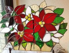 三角公江さんのステンドグラス作品