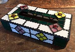 ステンドグラスのティッシュBOXケース
