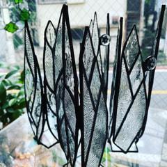 昆野理香さん作 ステンドグラスで一輪挿し