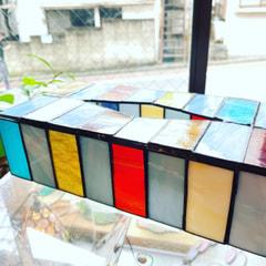 増澤洋子さん作 ステンドグラスでティシュBOXケース