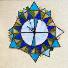 山本恵美子さん作 ステンドグラス壁掛け時計