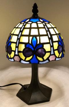 池田美穂さんのステンドグラスのランプシェード