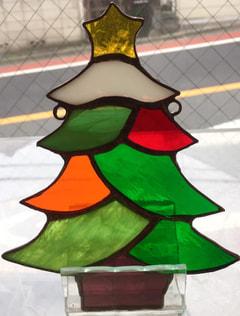 田代佳代子さんのステンドグラスでクリスマスオーナメント
