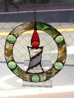 北原由佳さんのステンドグラスでクリスマスオーナメント